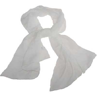 Foulard en mousseline de soie, dim. 40x150 cm, 15 g/m2, 1 pièce