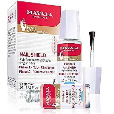 Mavala Base De Fibra De Nylon + Enduit Protecteur Fortalecedor De Ongles - 1 Pack