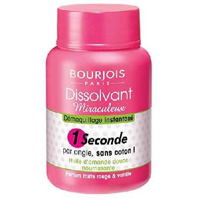 Bourjois - Dissolvant 1 Seconde - Miraculeux - Démaquillage instantané sans coton - Unique 75ml