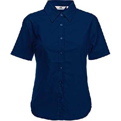 Fruit of the Loom Chemise Oxford à manches courtes pour femme - Bleu - XXX-Large