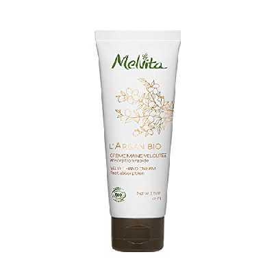Melvita - Crème mains Argan Bio - Crème Naturelle à 99%, Certifiée Bio - Nourrit, Répare et Protège - Fabriquée en France - Tube 75ml