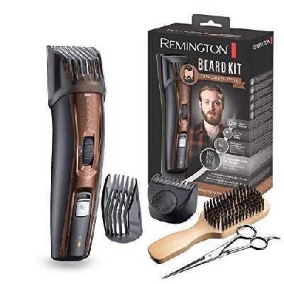Remington Coffret Rasage, Tondeuse Barbe, Lames Titanium Auto-Affûtées, Sabots Ajustables, Batterie Lithium - MB4045 Beard Kit