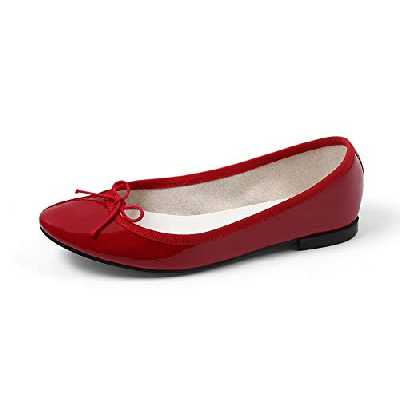 Repetto Ballerines Cendrillon, Chaussure Femme, Cuir, Rouge Flamme Vernis, T42