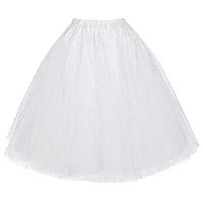 Vintage Swing Half Slips Jupe Jupe pour Robe de soirée - Blanc(bp56-2) - M