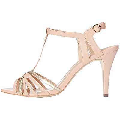 find. Sandales Bicolores à Talons Femme, Multicolore (Peach/ Rose Gold), 37 EU