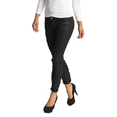 Le Temps des Cerises JFPULP000WA12 Jean Slim, Noir, W26 (Taille Fabricant: 26) Femme