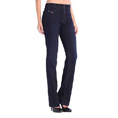 DIESEL Bootzee-St 0608Y Pantalon Bootcut Jeans Slim Regular (W26/L32, Bleu)