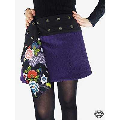 VOGMATE Femme Robe Chic Longue Col V à Fleur Manches Courtes en Coton Robe Maxi de Plage D'été Casual,XL