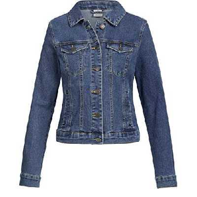 Vero Moda Vmhot SOYA Ls Jacket Mix Noos Blouson, Bleu (Medium Blue Denim Medium Blue Denim), 44 (Taille Fabricant: X-Large) Femme