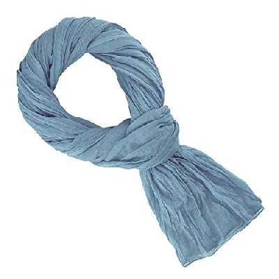 Allée du foulard Chèche bleu vintage