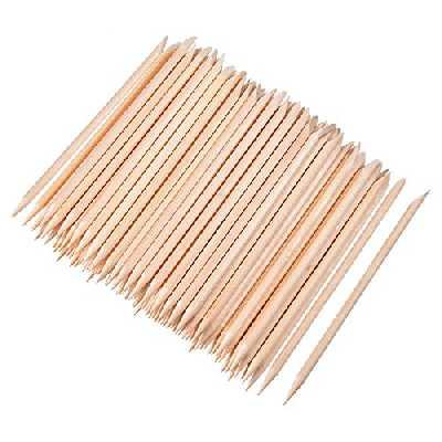 100 Pièces Bâtons de Bois Orange Stick Cuticule des Ongles pour Poussoir Supprimer Manucure Art Pédicure, 4.3 Pouces