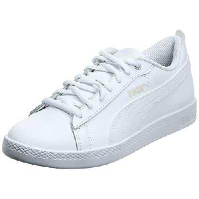 PUMA Smash WNS V2 L, Sneaker Basse Femme, White White, 38 EU