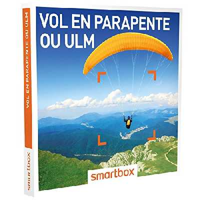 SMARTBOX - Coffret Cadeau Femme ou Homme - Idée cadeau original : Vol en parapente ou ULM pour 1 ou 2 personnes