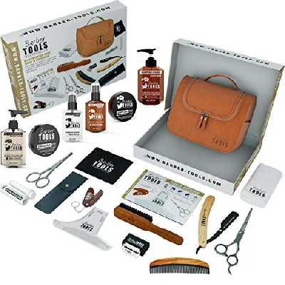 Kit/Set/Coffret d'entretien et de soin pour barbe et rasage avec Soin de barbier   Cosmetique Made in France ✮ BARBER TOOLS ✮