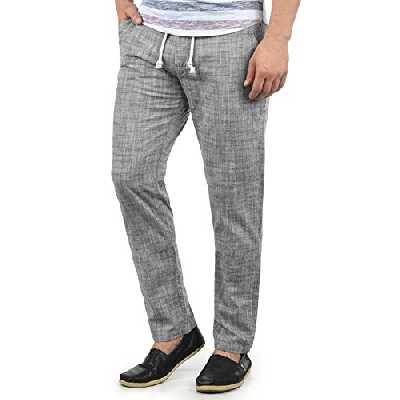 BLEND Bonavo Pantalon en Lin Pantalon D'été pour Homme 100% Coton Coupe Régulaire, Taille:XL, Couleur:Black (70155)
