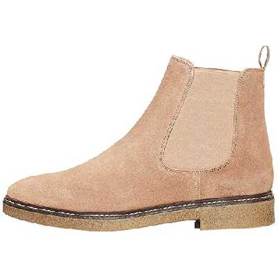 Marque Amazon - find. Gum Sole Heavy Rand Bottes Chelsea, Gris Taupe), 37 EU