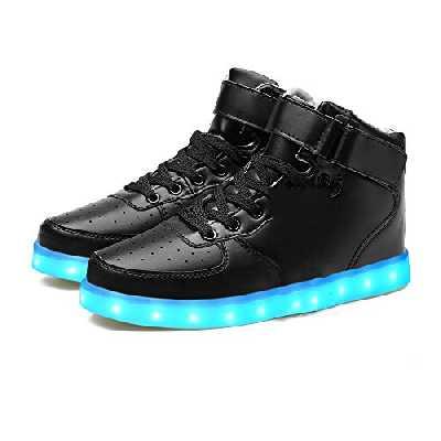 LEKUNI LED Chaussures Unisexe Homme Femme Lumineux Sports Baskets 7 Couleur USB Charge LED Chaussures Lumiere Clignotants-LEDGBHEI32
