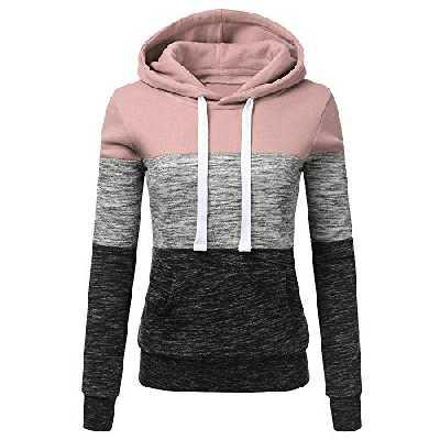 MORCHAN❤Femme Automne Hiver Manteau Veste à Capuche Hoodie Shirt Casual Jumper Sport Hauts Tops Pullover Blouse Blouson Sport Sweat Sweatshirt (FR-42/CN-S,Gris foncé)
