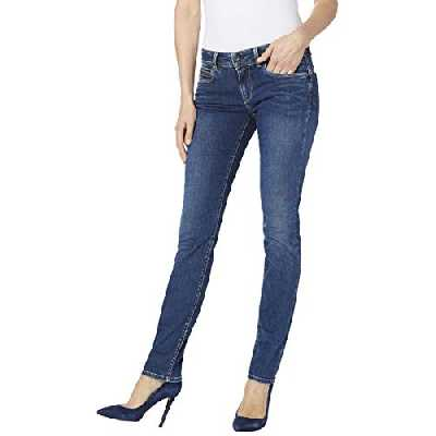 Pepe Jeans New Brooke Jeans, Dark Used Denim CN6, 28W/30L Femme