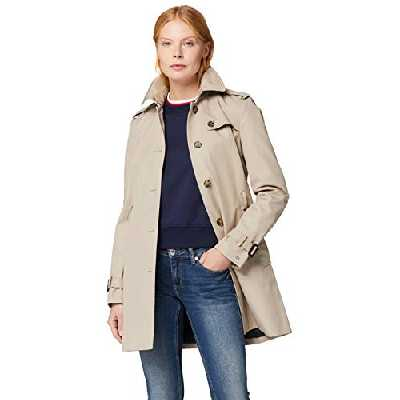 Tommy Hilfiger Heritage Single Breasted Trench, Manteau Manteau Manches Longues Femme, Beige (Medium Taupe 055), M (Taille fabricant: M)