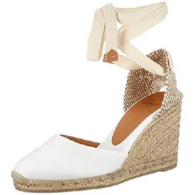 Castañer Carina/8/001 Chaussure Femme, Blanc, Taille EU 39