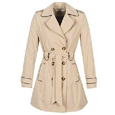 Naf Naf MENK12 Trench Coat Femme Beige (Trench 1585) 34 (Taille fabricant: 34) lot de
