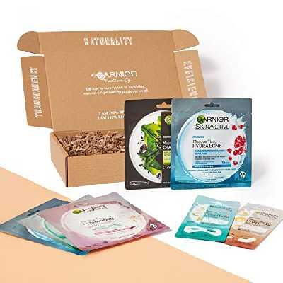 Garnier Skinactive - Coffret Soin Visage - 7 Nuances de Masques - Pour Toutes les Peaux