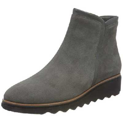 Clarks Sharon Heights, Bottine Femme, Daim Gris, 38 EU