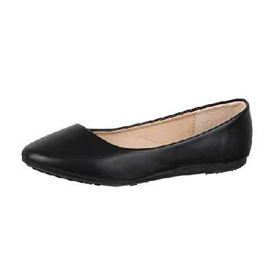 Elara Ballerines Femme Confortable Slip-Ons Plat Chunkyrayan DY-10A Black-41