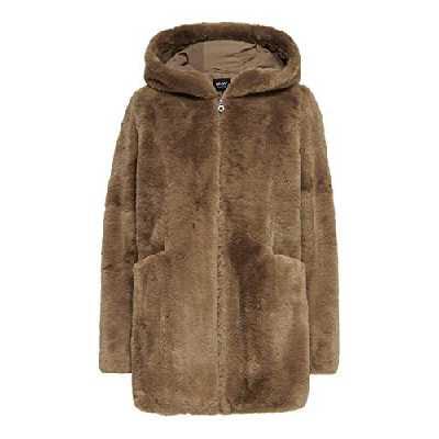 ONLY ONLMALOU Faux Fur Coat CC OTW Manteau en Fausse Fourrure, Toasted Coconut, S Femme