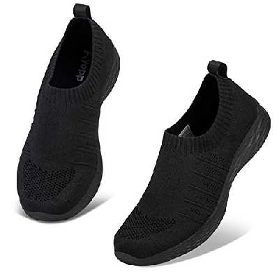 Kyopp Chaussures de Sport Femme Baskets Mode Femme Gym Fitness Sport Sneakers Chaussures Running Femme ,40 EU,2 Noir