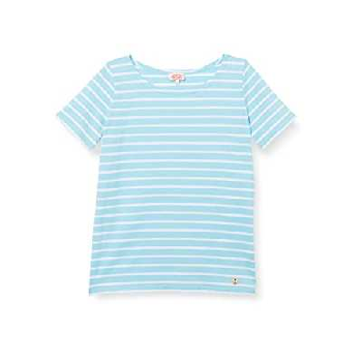 Armor Lux Marinière ''Hoëdic'' T-Shirt Femme, Bleu (Rivage/Blanc), 48