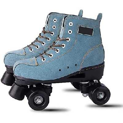 Roller Patins à rouleaux pour Hommes Dames Skates Bottes Femmes Quad Skates Chaussures LED Skates Lames Rollerskates pour adultes Enfants Garçons Filles Disco Skates Style rétro, Flash 34 Pour les fem