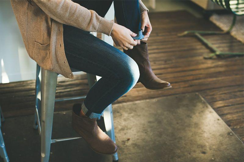 Jeans bottines Femme