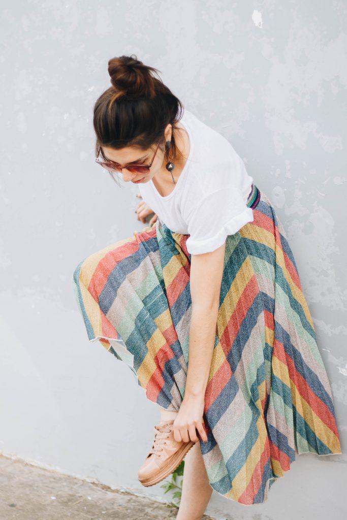 comment porter une jupe midi