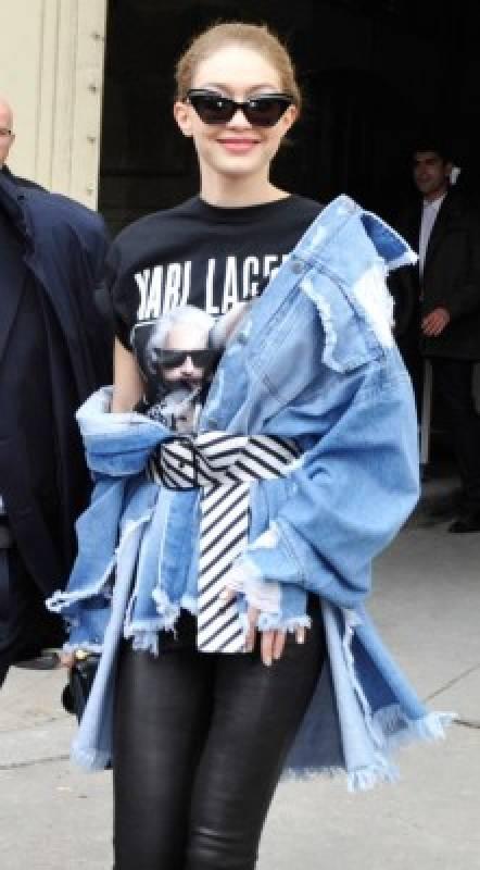 veste en jean épaule