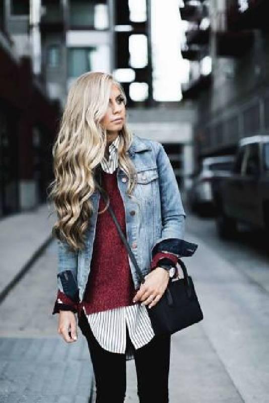 veste en jean automne