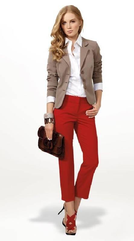 pantalon classe rouge