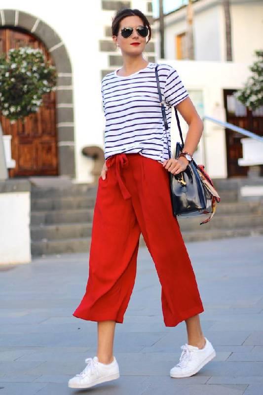 pantalon rouge décontracté
