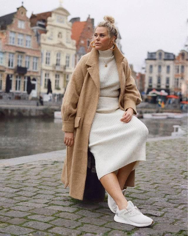 look robe longue pull