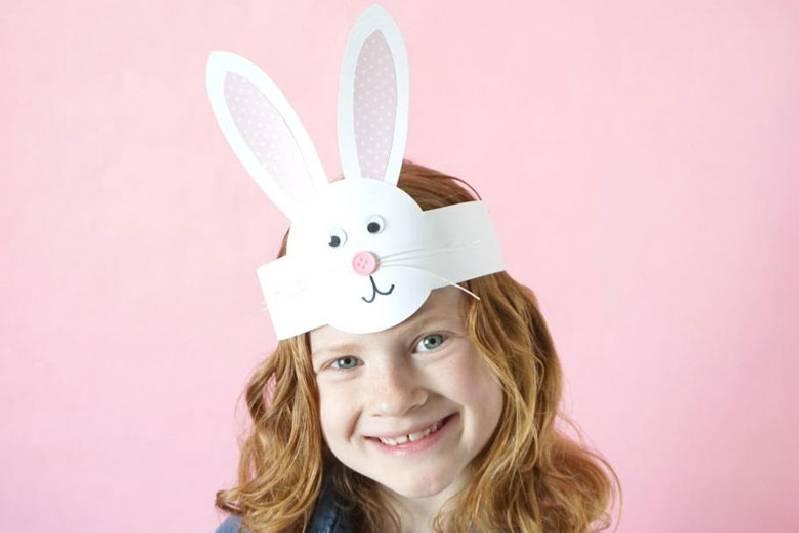 idée de défilé de bonnets de Pâques bandeau facile pour lapin